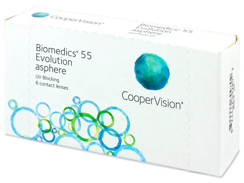 Контактные линзы Biomedics 55 Evolution (6 шт) +8..-10